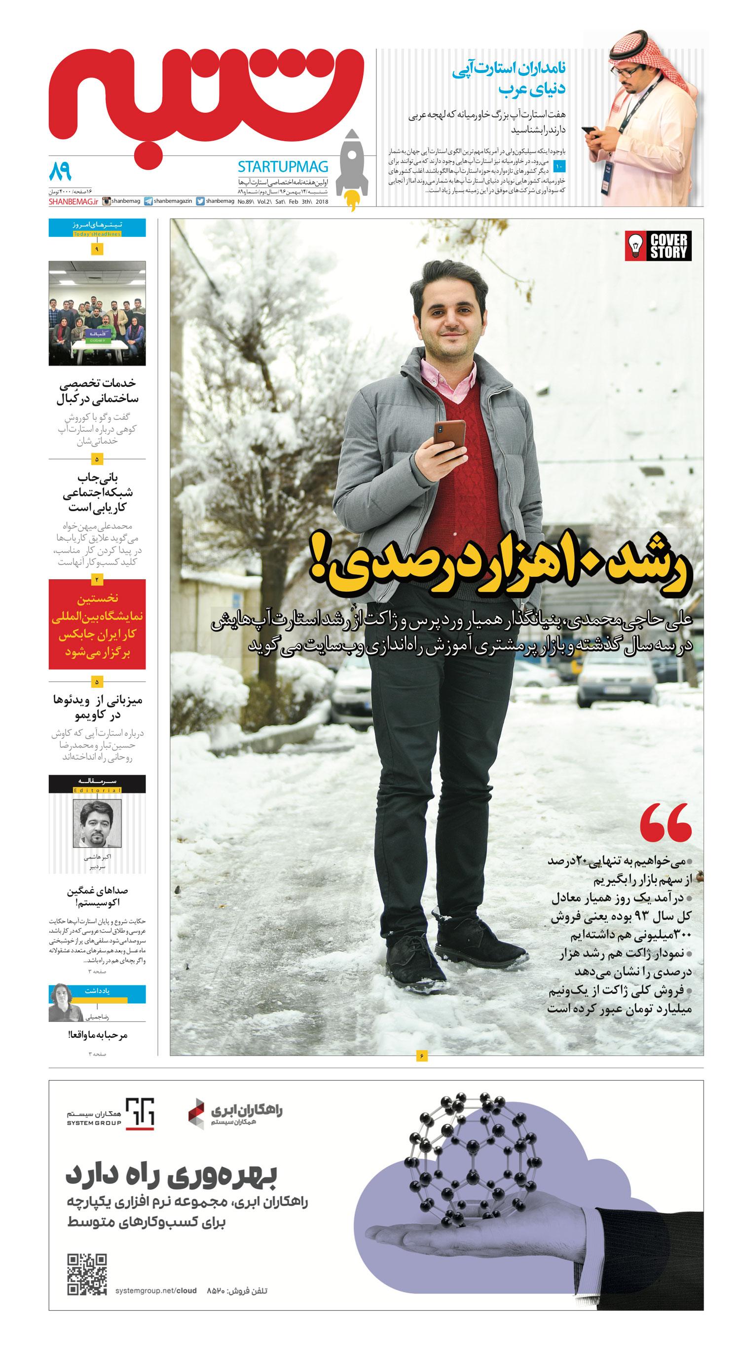 رشد ۱۰ هزار درصدی علی حاجی محمدی
